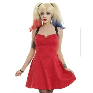 Harley quinn red dress hot topic